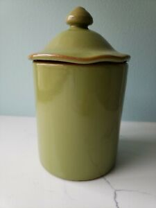 SALE #3 VIETRI Cucina Fresca Canister Small Sage Green NEW WITH TAG Excel Condit