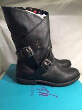 Blowfish Amanda Mid Calf Boots Black Faux Leather UK 4 / EU 37 RRP £100