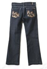 """7 for All Man Kind 7FAM Jeans Bootcut Dark Wash Embroidery Pocket Womens 25 X29"""""""