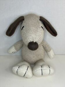 "Peanuts Snoopy Brown Sock Monkey Style Plush HALLMARK 9"""