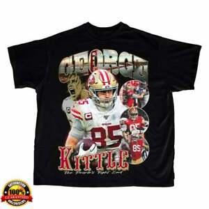 George Kittle Vintage T Shirt Vintage San Francisco 49ers Tee Black Cotton Tee