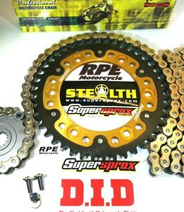 HONDA CBR600RR '03-06 DID & SUPERSPROX GOLD QUICK ACCEL CHAIN AND SPROCKETS KIT