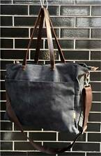 Large Canvas Tote Bag, Shopper, Travel, Shoulder Bag - Charcoal Black