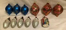 Vintage Glass Christmas Ornaments  ~ Lot of 12