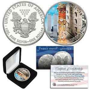 WORLD TRADE CENTER 2019 US Mint American Silver Eagle Dollar 1 OZ - 18th Anniv