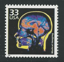 Noninvasive Medical Imaging Techniques MRI CAT CT Scan Ultrasound US Stamp MINT!