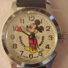 Vintage Disney Bradley Mickey Mouse Watch, Swiss Made Wind Up Watch