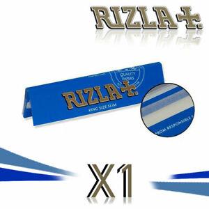 RIZLA BLUE SLIM KING SIZE Rolling Papers Genuine Smoking Cigarette Original