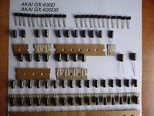 Reparatursatz Audio Board AKAI GX-4000D Repairkit Transistoren und Elkos