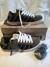 Odessa Quba Boys Kids Green Black White Suede Skate Shoes UK Size 4 BNIB