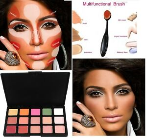 New 15 Colours Concealer Kit Palette with Brush Face Makeup Cream Contour CL2