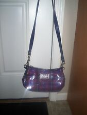 COACH POPPY SEQUIN TARTAN GROOVY BAG 16048  BERRY ~ FREE SHIPPING