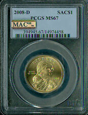 2008-D SACAGAWEA DOLLAR PCGS MAC MS 67 PQ SPOTLESS  .