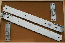 """3 pairs 24"""" Adjustable hook and band hinges latch, padbolt + 2 x down bolts"""
