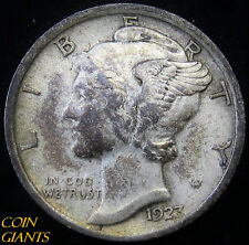 1923-P Winged Head Liberty Mercury Dime Au About Uncirculated 10c Philadelphia