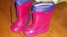 Tundra Canadian Snow Boots Toddler Size 6 Fushia and Purple