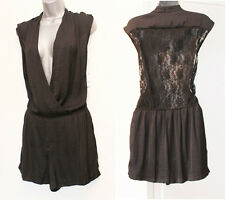 NEW Zara Black Lace Playsuit  Wrap Style Party Formal Casual Size Medium