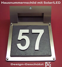 High quality 3D-house number plate/Door sign with Solar/Led lighting