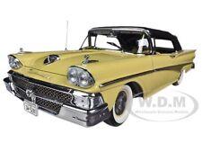 1958 FORD FAIRLANE 500 CLOSED CONVERTIBLE SUN GOLD/BLACK 1/18 BY SUNSTAR 5281