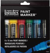 Liquitex Paint Marker Set - 6 cm x amplio (de 15 mm Puntas)