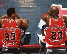 Chicago Bulls MICHAEL JORDAN & SCOTTIE PIPPEN Glossy 8x10 Photo Print Poster