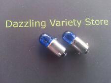2x BLUE BA9s 233 12v T 4W Auto Bulb Car Lamp Side Light Interior Custom Pimping!