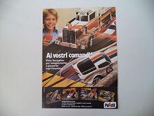 advertising Pubblicità 1982 PISTA SORPASSER POLISTIL