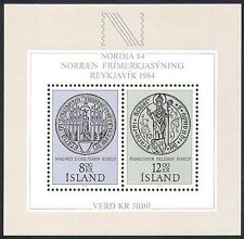 Iceland 1983 Nordia '84/Signet Seals/Monastery/Animation/StampEx 2v m/s (n36687)