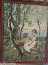 Romantisches Gemälde datiert 1896 E.Schmidt