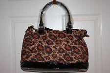 NEW! NWT! BETSEY JOHNSON Cheetah Boom Boom Nylon Satchel Handbag $98