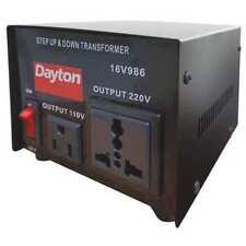 DAYTON 16V986 Step Up/Down Voltage Converter, 500VA