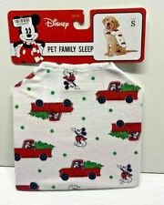 Mickey Mouse Flannel Holiday Dog and Cat Pajamas - White - Small 12LBS to 20LBS