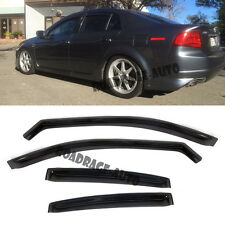 For 04-08 Acura TL In-Channel Style Side Window Visors Deflectors Rain Guard