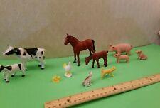 FARM ANIMALS Momma + Baby set. Great detail.  Medium size . Cows, pigs, horses++