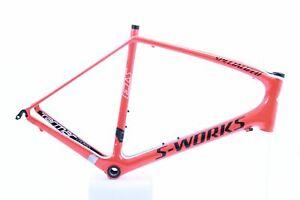 USED AS IS 2011 Specialized S-Works Tarmac SL3 61cm Frame Orange/Black/White