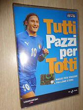 RARE DVD TOUS FOU POUR TOTTI OBJECTIFS ET MAGIE AS ROMA FRANCESCO FOOTBALL