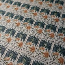 FEUILLE SHEET TIMBRE ARBRE REBOISEMENT NATURE N°1460 x50 1965 NEUF ** MNH