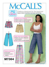 McCall's Sewing Pattern 7364 Misses 4-14 Drawstring Shorts Pants with Pockets