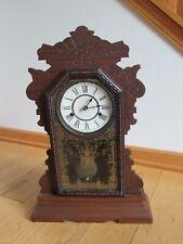 Antique Kitchen Clock Wood Case Seth Thomas Key Wind