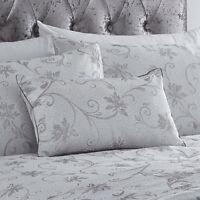 Duvet Cover Set Ravina Silver Floral Luxury Woven Jacquard double/king size