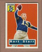 Bart Starr Green Bay Packers custom card by Bob Lemke 1956 style #123  🔥