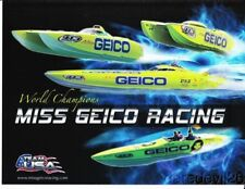 Marc Granet Miss Geico Racing Unlimited Hydroplane postcard