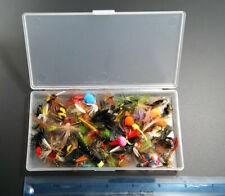 100 pcs set Fly Fishing Flies Assortment Dry Bass Trout Fly Fishing Lure Hooks