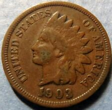 *1903  INDIAN  HEAD  BRONZE  PENNY, Nice Details Philadelphia Mint Coin  #4