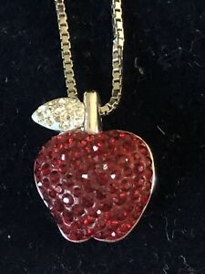 Swarovski Crystal Apple pendant necklace
