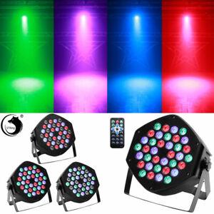 36 LED Par Stage Light RGB DMX512 Disco Projector DJ Disco Bar Uplighter Remote