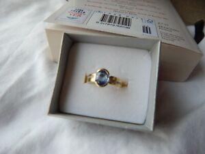 14 Carat Yellow Gold Ceylon Sapphire And Diamond Ring Exquisite