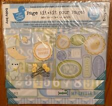 """~NEW~ COLORBOK 12""""x12"""" BABY BOY Scrapbooking Page Kit - Over 100 Pieces!"""
