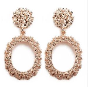Fashion Women Acrylic Metal Geometric Stud Ear Dangle Drop Earrings Jewelry Gift