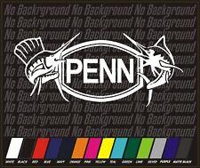 "Fishing Penn Reels fish tackle reel Vinyl Decal Sticker window Car Truck boat 8"""